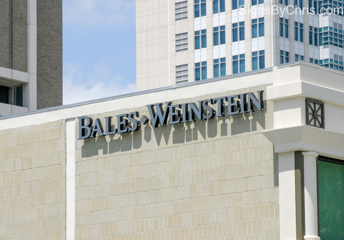 bales weinstein stainless building letters